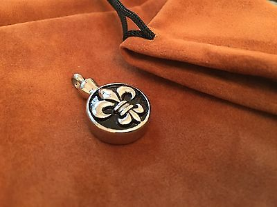 celtic style cremation keepsake ashes pendant with brown suede pouch