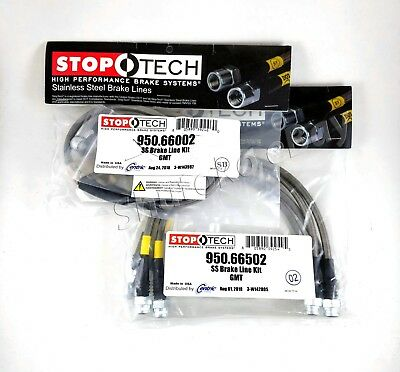 STOPTECH STAINLESS STEEL BRAKE LINES FRONT PAIR 950.45006