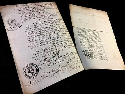 Lot Of Two Antique Documents   1818