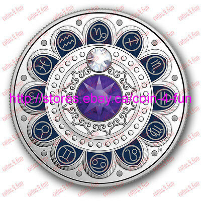 2017 Canada Zodiac Series#1 Capricorn $3 Pure Silver Coin with Swarovski Crystal