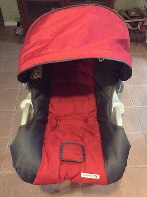 Graco SnugRide 34 35 Baby Car Seat Replacement Cushion Cover Canopy Red Gray