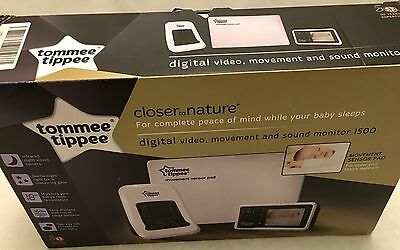 Tommee Tippee Digital Video, Movement & Sound Baby Monitor, Long Distance Range