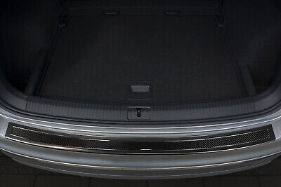 Carbon Stainless Steel Boot Edge Protector compatible with VW TIGUAN 2 II Built