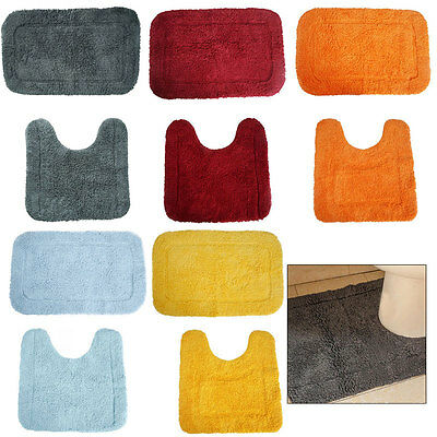 Carpet Bathroom Toilet Bath Shower Pad Rug Pedestal Mat Non Slip Cotton Washable