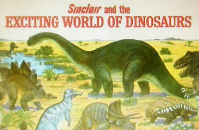 "VINTAGE ""SINCLAIR AND THE EXCITING WORLD OF DINOSAURS"" Booklet  1967  5"" X 8"""