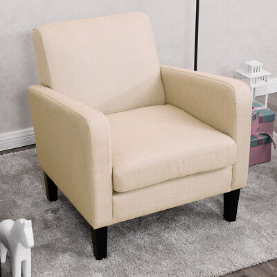 ACCENT SINGLE SOFA Fabric Upholstered Leisure Arm Chair Living Room ...