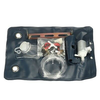 12V Universal Auto Car Windscreen Windshield Washer Pump Jet Bag Kit Switch AU