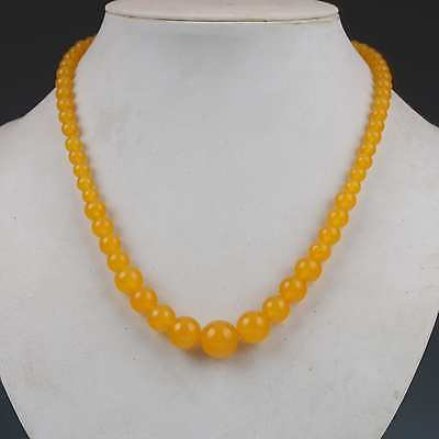Chinese Natural Jade Hand-carved Necklace G535