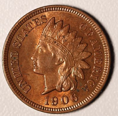 1906 INDIAN HEAD CENT - BU UNC - With CARTWHEELING MINT LUSTER!