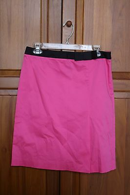 INC Hot pink skirt with black bow cotton stretch Sz 6