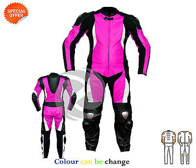 Purple ladies motorbike riding suit motorcycle gear perfect for track or cruise