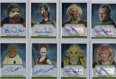 Star Wars Autograph Card Selection NM Topps