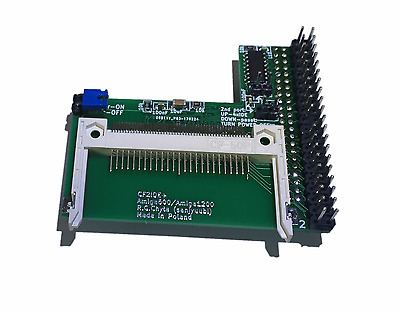 New CF2IDE+ Angle IDE 44 PIN CF Card Adapter to 40 PIN IDE - Amiga 600 1200 #566