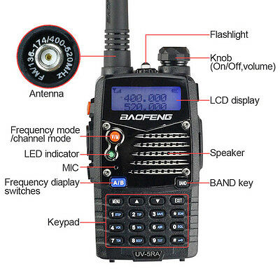 Baofeng UV-5RA V/UH136-174/400-520MHz Dual-Band Two-way Radio Walkie Talkie KY