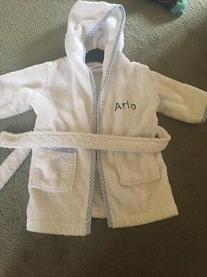 Baby Boy Personalised Arlo Dressing Gown From My First Years 0-6 Months