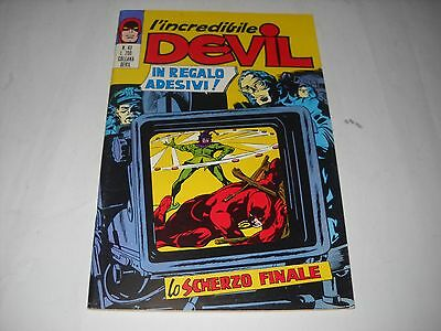 L' Incredibile Devil Numero 43 Con Adesivi Editoriale Corno 1971 Gadget