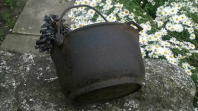 Large Vintage Cast Iron Romany Gypsy Cauldron Cooking Pot, Camping Stew Pot