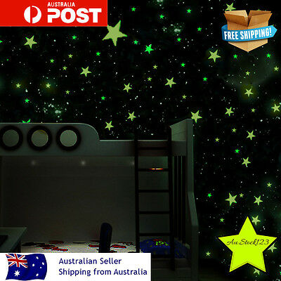 Green Home Wall Glow In The Dark Stars Stickers Baby KIDS Star Scrapbook New DIY