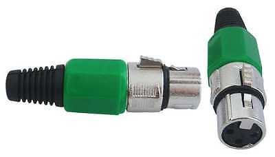 TA3F XLR 3Pin Connector Plug Inline Female Socket For Microphone (Red)