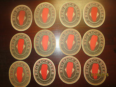 12 REDBACK BEER Western Australia  collectable COASTERS