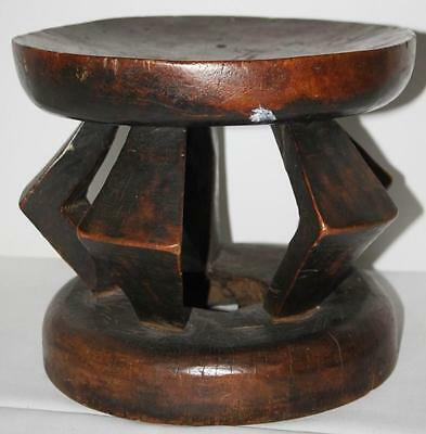 African Wood Stool  -  FREE Postage [PP-127 ]