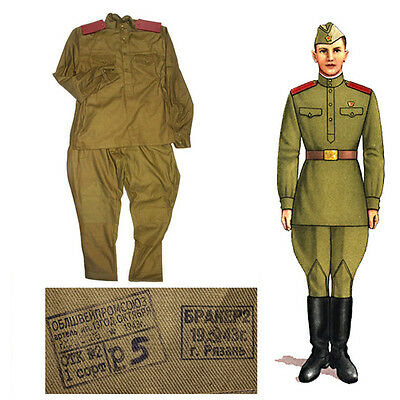 Very Rare Russian Soviet Army Soldier Uniform 1943 Year Original Ww2 52/ru Xl/eu