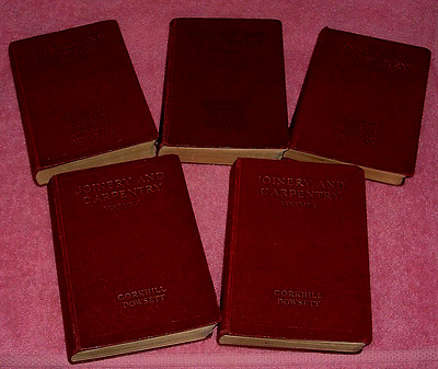 Joinery And Carpentry Hard back Books  5 of 6 volumes c1929