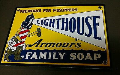 Lighthouse Soap sign ... detergent,  laundry