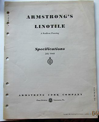 armstrongs  linotile floor specifications 1948