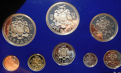 Barbados 1980 Silver ( 1.927 ounces ) Proof Set  $5 and $10 King Neptune, No Box