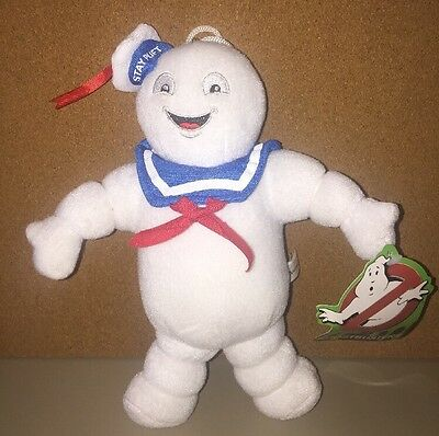 """Ghostbusters Stay Puft Marshmallow Man 10"""" Plush Stuffed Animal Toy Factory NWT"""