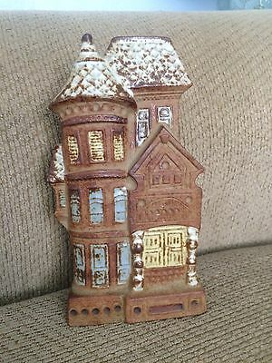 Vintage Ceramic Counterpoint Wall Pocket Planter Victorian House San Francisco