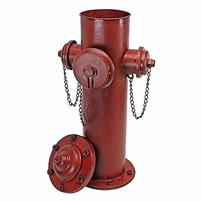 Vintage Decor Lawn Metal Red Fire Hydrant Statue Home Garden Outdoor Ornament