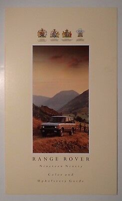 1990 Range Rover Color and Upholstery Guide