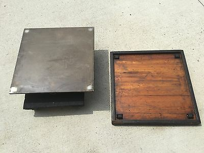 "Machinists Machine Surface Plate Cast Iron 24"" x 24"" x 5 1/2"" Mill Vintage USA"