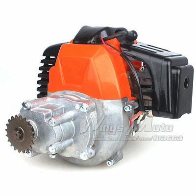 49cc Electric Start Engine w/ Gear Box for Pocket Bike Gas Scooter Mini ATV