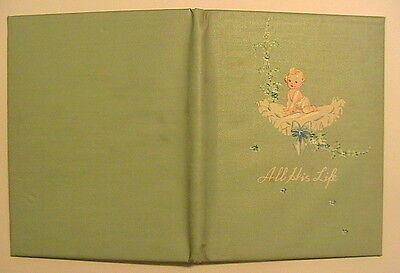 1944 Vtg BABY BOY Life BOOK Child Album Memory Photo - Great SCRAPBOOK PAGES