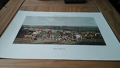 The Meet - The Quorn Hunt Fox Hunting Print H Alken