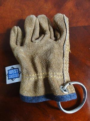 West Chester Leather Glove Keyring Keychain Key Ring