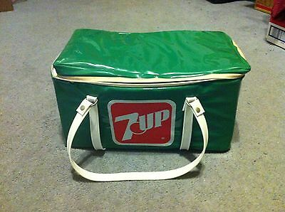 Vintage 7Up Vinyl Cooler with Zipper And Strap