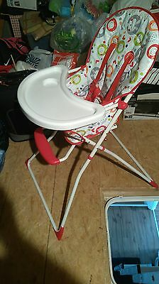 Used RED KITE  COMPACT HIGHCHAIR BABY FEEDING HIGH CHAIR Perfect condition