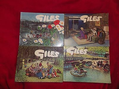 Giles Annuals 4 Cartoon Books all from Series 20 see pictures