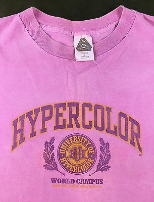 True Vintage 90s University of Hypercolor World Campus Color-Changing T-Shirt XL