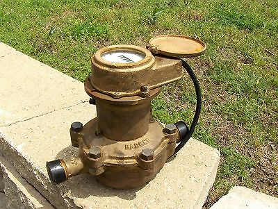 """Brass Badger Water Disc Meter 3/4"""" SC, Used, Tested"""