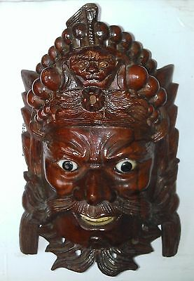 Antique Mask wooden handmade 18th Asian Chinese