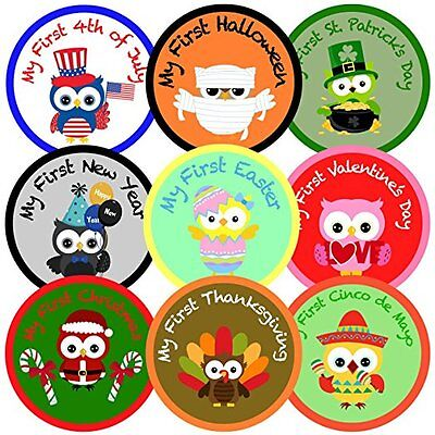 My First Holiday Belly Milestone Stickers - Baby's First HolidayMy First Holiday
