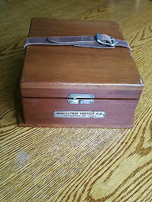 Hamilton U.s.naval Chronometer Watch-Runs-Model 22 21 Jewel W/2 Boxes Dated 1942
