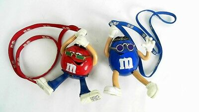 Vintage M&m Character Radios Blue & Red Radio Groovy Collectible