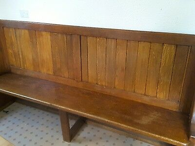 beautiful solid oak church pew