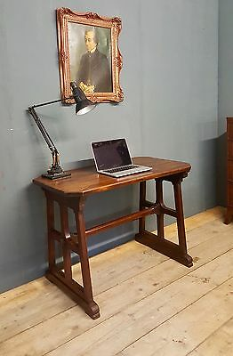 Antique Vintage small refectory kitchen table/Desk In the manner of HEALS Rustic